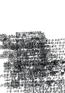 sketch arabic writing flamenco biennale