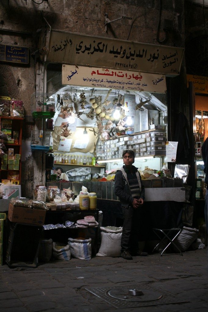 boy at souk damascus